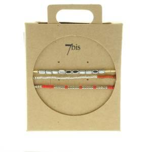 330010G Bracelet mix and match-gris-rouge collection idees cadeaux