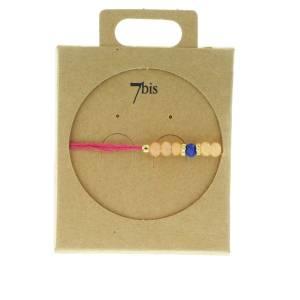 330011E Bracelet simple rouge rose ajustable collection autres 7bis