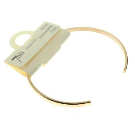 371301DORROSINX Bracelet Jonc Doré Rosé Fin Plat Acier Inoxydable