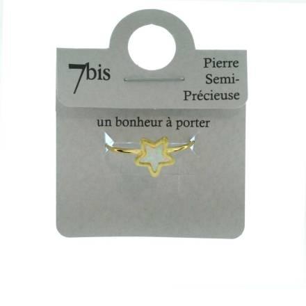 871678BLADOR Bague Étoile Doré Blanc Opale Poétique