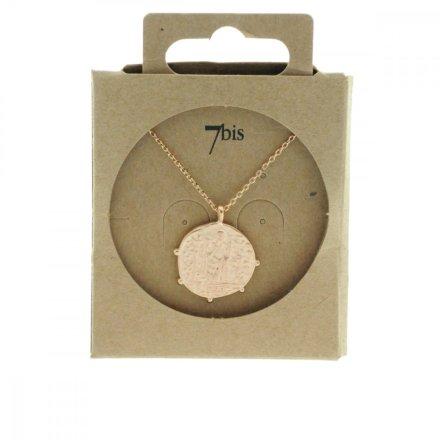 171526DORROS Collier Médaille Personnage Doré Rosé Gravé Laiton