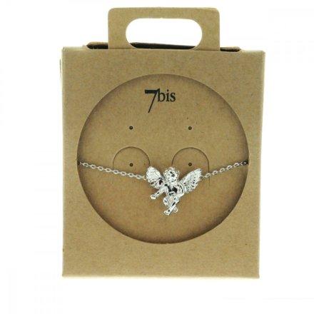 329272ARG Bracelet Ange Argent Ailé Miniature