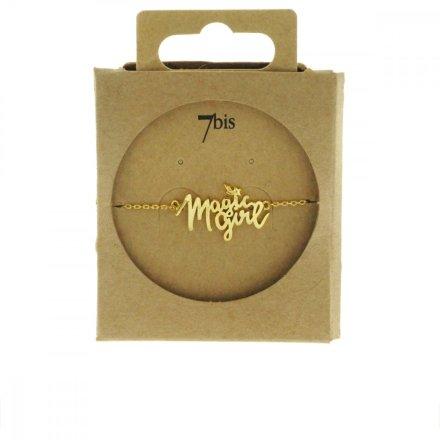 370459DOR Bracelet Magic Girl Doré Natachabirds Message