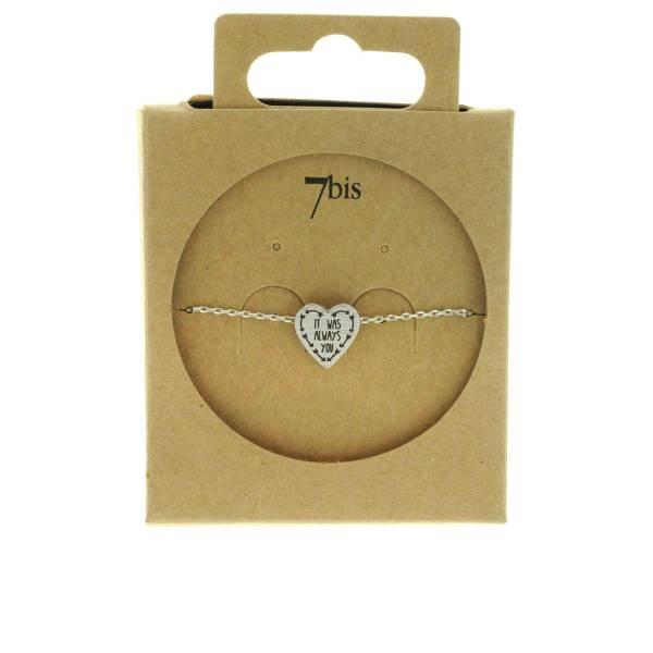 370557ARG Bracelet It-was-always-you Argenté Message Imprimé