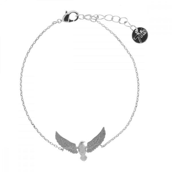 370586ARG Bracelet Aigle Argenté Articulé Laiton