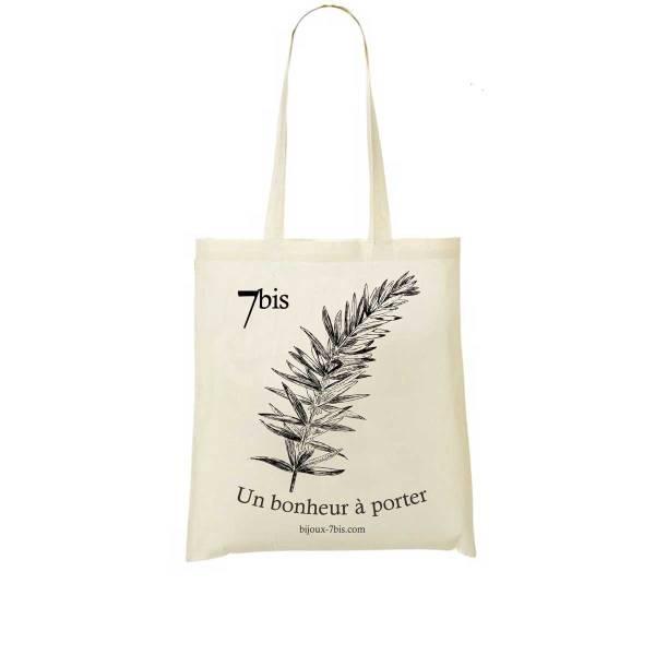 671573 Sac Toile Dessin De Fleur Blanc Cassé Seau De Salomon Fermeture