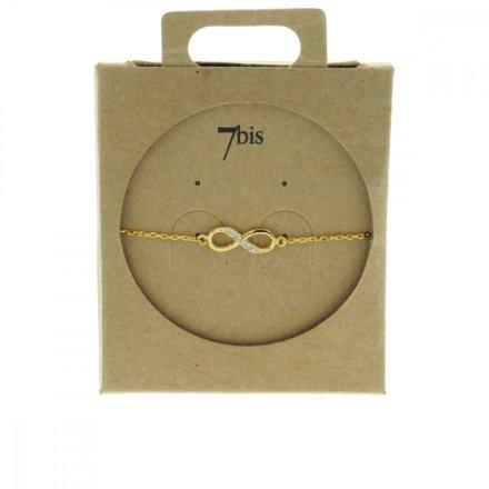338245DOR Bracelet Infini Doré Strass Zircon