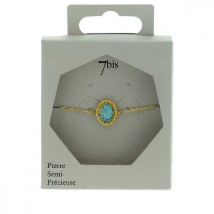 370061TURDOR Bracelet Pierre Ovale Turquoise Médaillon