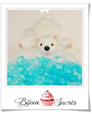 tuto fimo ours blanc bijoux sucres