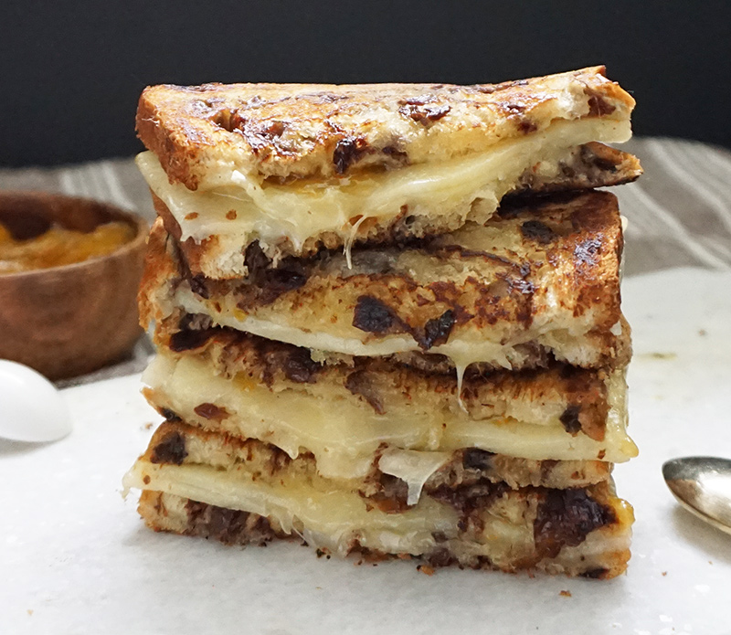 Apricot White Cheddar Grilled Cheese Bijoux Amp Bits
