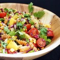Mango salsa pasta salad