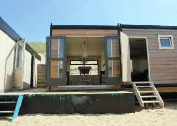 Origineel overnachten op het strand van Castricum aan Zee