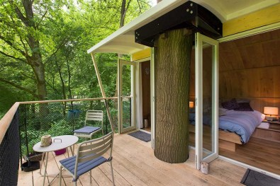 Bijzondere Overnachting Slapen in een boomhut Buytenplaets Suydersee12