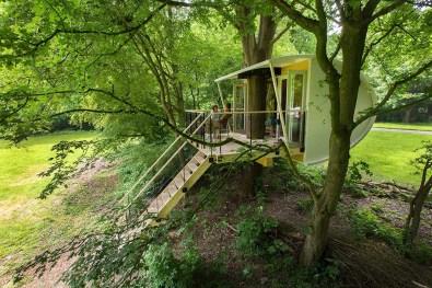 Bijzondere Overnachting Slapen in een boomhut Buytenplaets Suydersee13