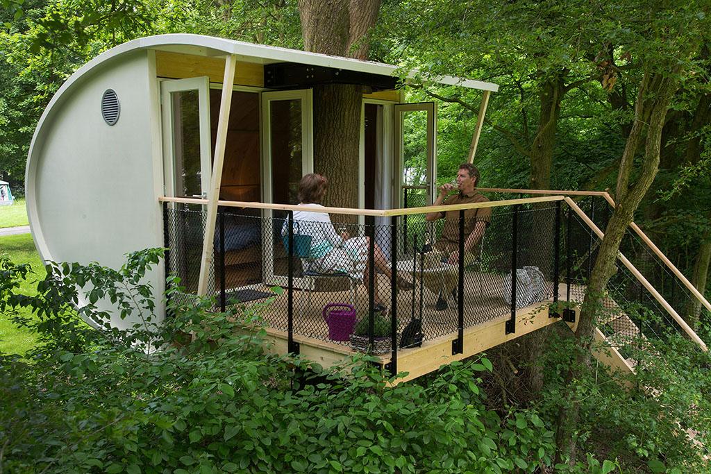 Origineel overnachting in deze luxe boomhut suite