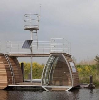 Origineel Overnachten Bijzondere Overnachting Slapen op een ecolodge woonboot in de Biesbosch10