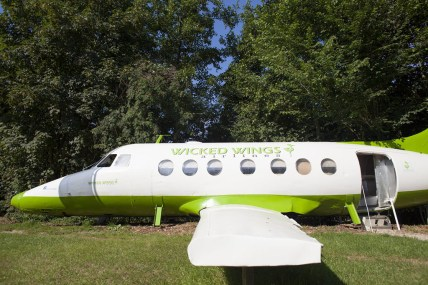 Bijzondere Overnachting Origineel Overnachten Slapen in een vliegtuig Vreemde Vogel Vlaardingen6