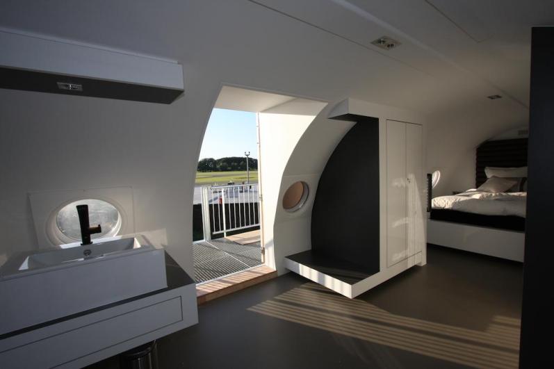 Bijzondere Overnachting Origineel Overnachten Slapen in een vliegtuigsuite op vliegveld Teuge9
