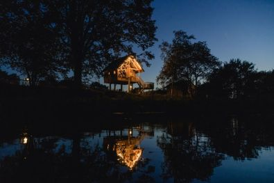 Glamping in een boomhut op vakantiepark Molke in Twente 11