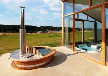 Luxe natuurhuis met hottub en jacuzzi Sint Geertruid Limburg 1