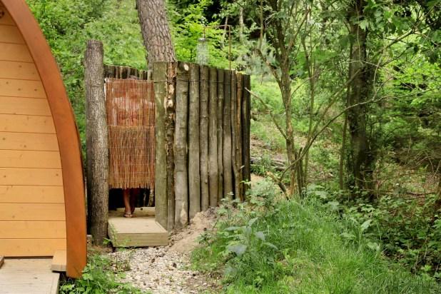 Slapen in het bos in een boshuisje Veluwe Buitenplaast Beekhuizen 1