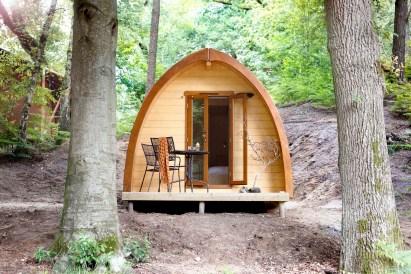 Slapen in het bos in een boshuisje Veluwe Buitenplaast Beekhuizen 13