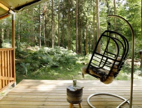 Slapen in het bos in een boshuisje Veluwe Buitenplaast Beekhuizen 17