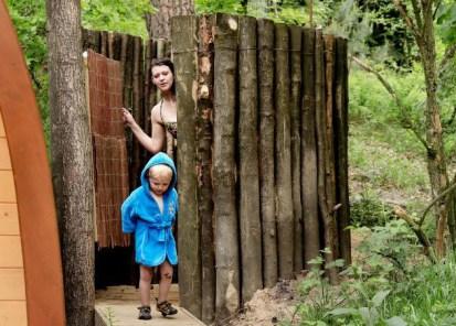 Slapen in het bos in een boshuisje Veluwe Buitenplaast Beekhuizen 3