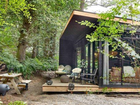 Slapen in Forest Cabins van Buitenplaats Beekhuizen