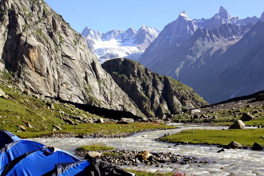 Hampta Pass trek in Himalayas
