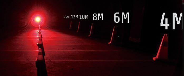 Luz trasera LED Moon Shield 60 lumens