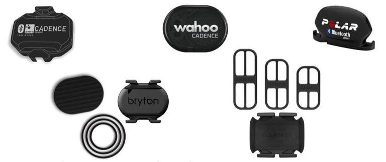 Sensores de cadencia de Garmin,Polar,Bryton, Wahoo