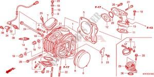 CYLINDER HEAD Engine ANF1257 2009 INNOVA 125 SCOOTER Honda