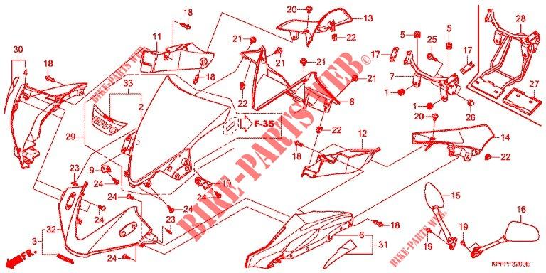 Upper Cowl For Honda Cbr 150 R Legend