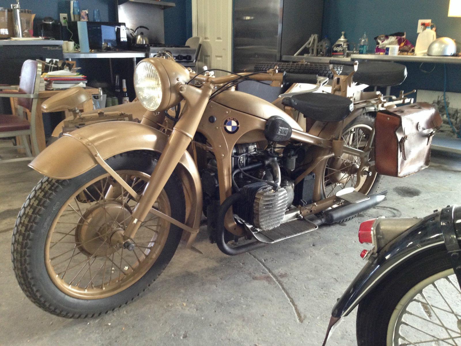 wehrmacht – 1941 bmw r12 military sidecar | bike-urious
