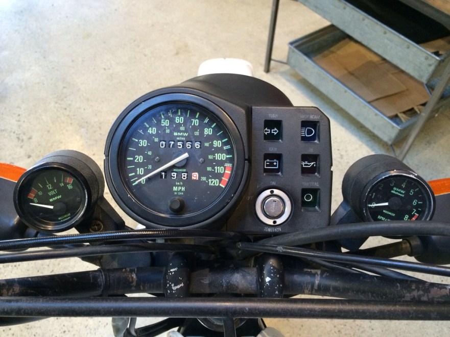 BMW R80GS - Gauges