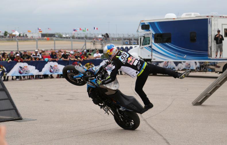 Bike-urious MotoGP Austin - Aaron Colton One Leg Wheelie