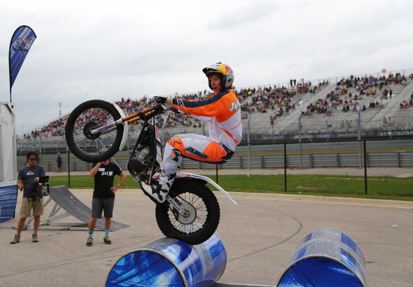 Bike-urious MotoGP Austin - Geoff Aaron Barrel Wheelie