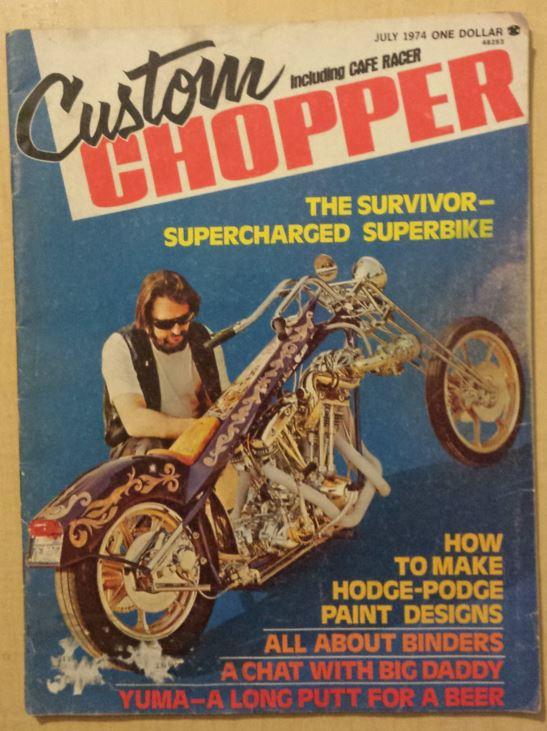 Custom Chopper Cover July 1974
