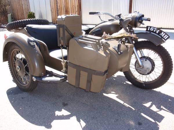 Dnepr with Sidecar - Front Right