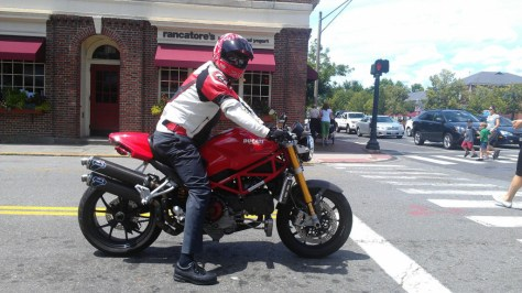 Ducati Monster S4RS Testastretta - Right Side with Rider
