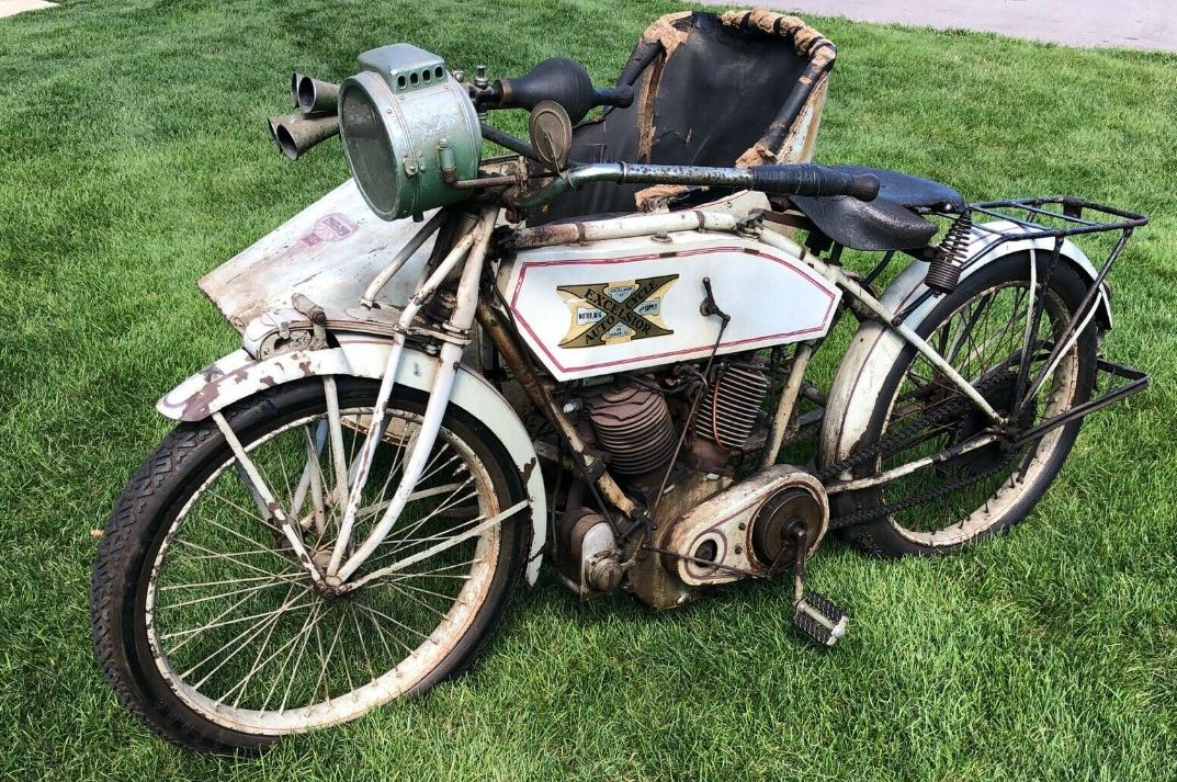 Ending Soon – 1913 Excelsior Big Twin with Sidecar