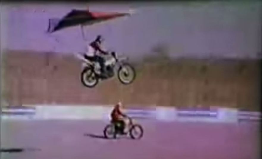 Video Intermission – Hang Glider + Motorcycle – Bike-urious