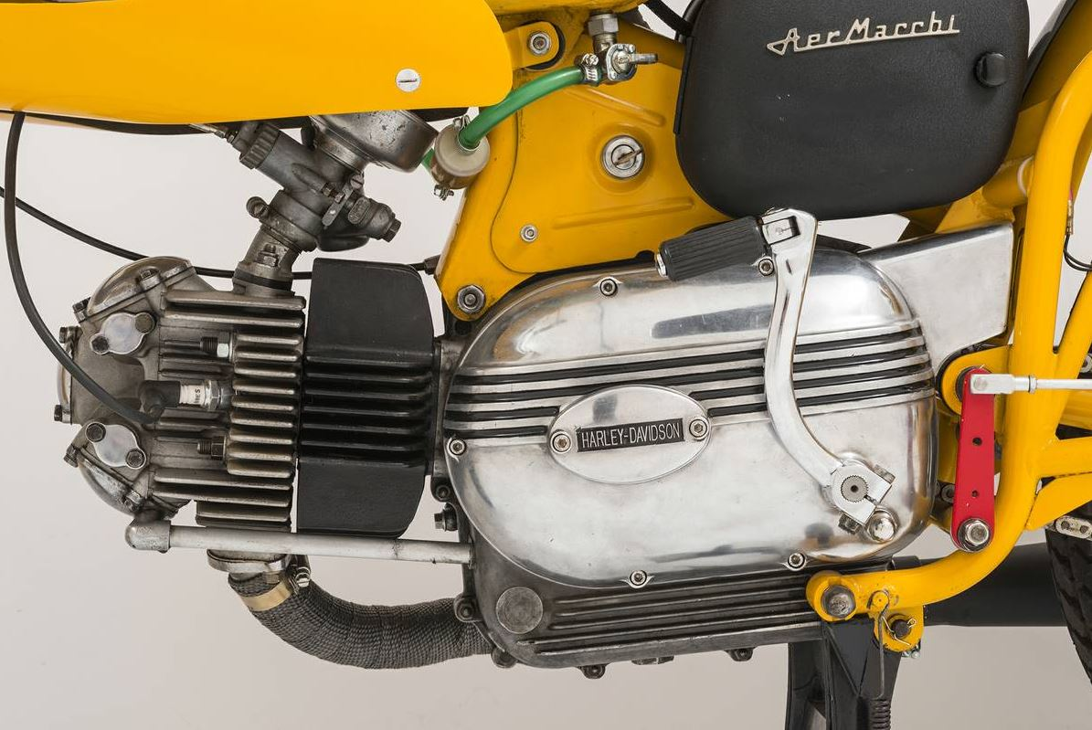 the triumph forks and head making up the front-end weren't chosen because  cafe rebuild – 1966 harley-davidson 250 sprint