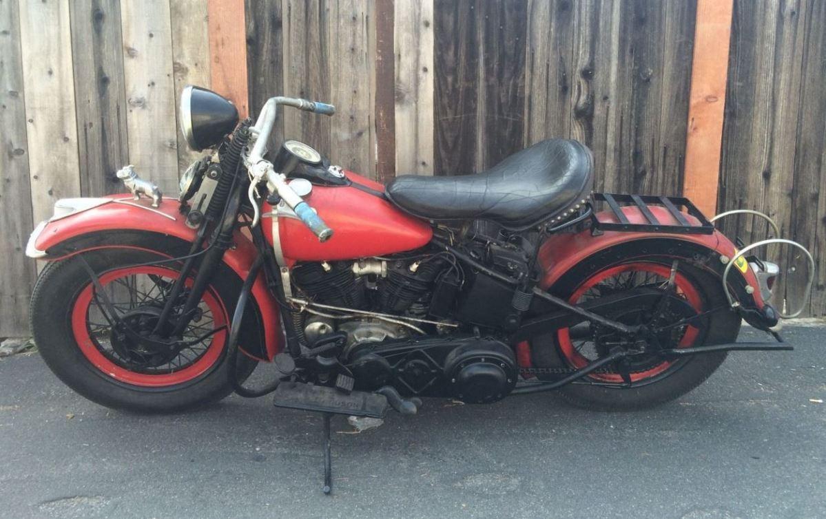 1946 Harley Davidson Original Knucklehead Frame
