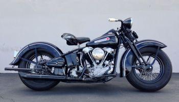 Original Paint – 1947 Harley-Davidson Knucklehead   Bike-urious