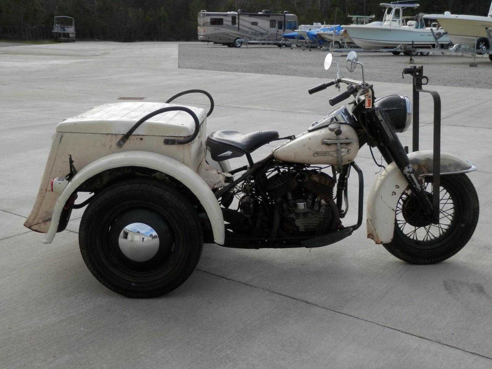 Well Worn 1965 Harley Davidson Servicar Bike Urious