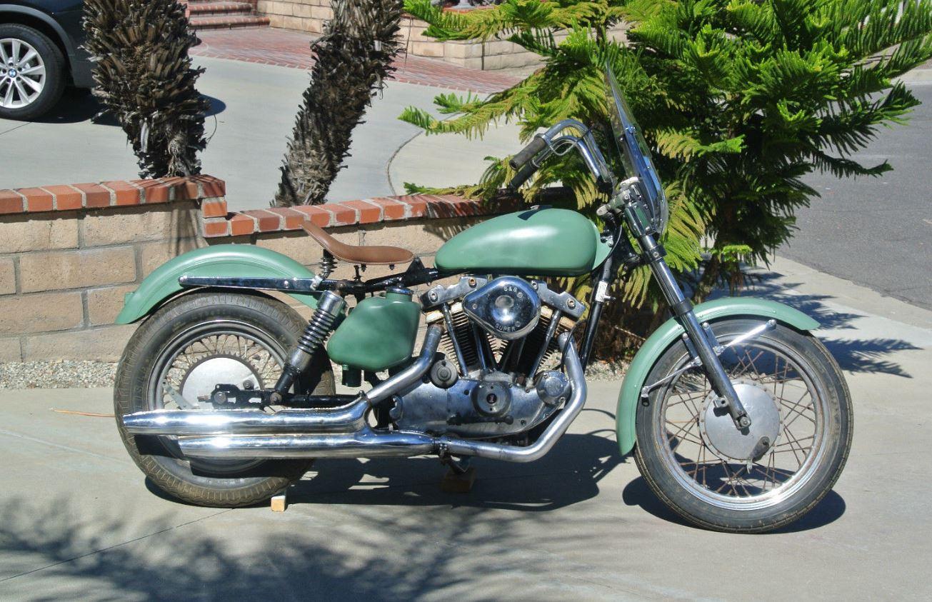 Navy 1972 Harley Davidson Sportster Xla Bike Urious Looked Pre