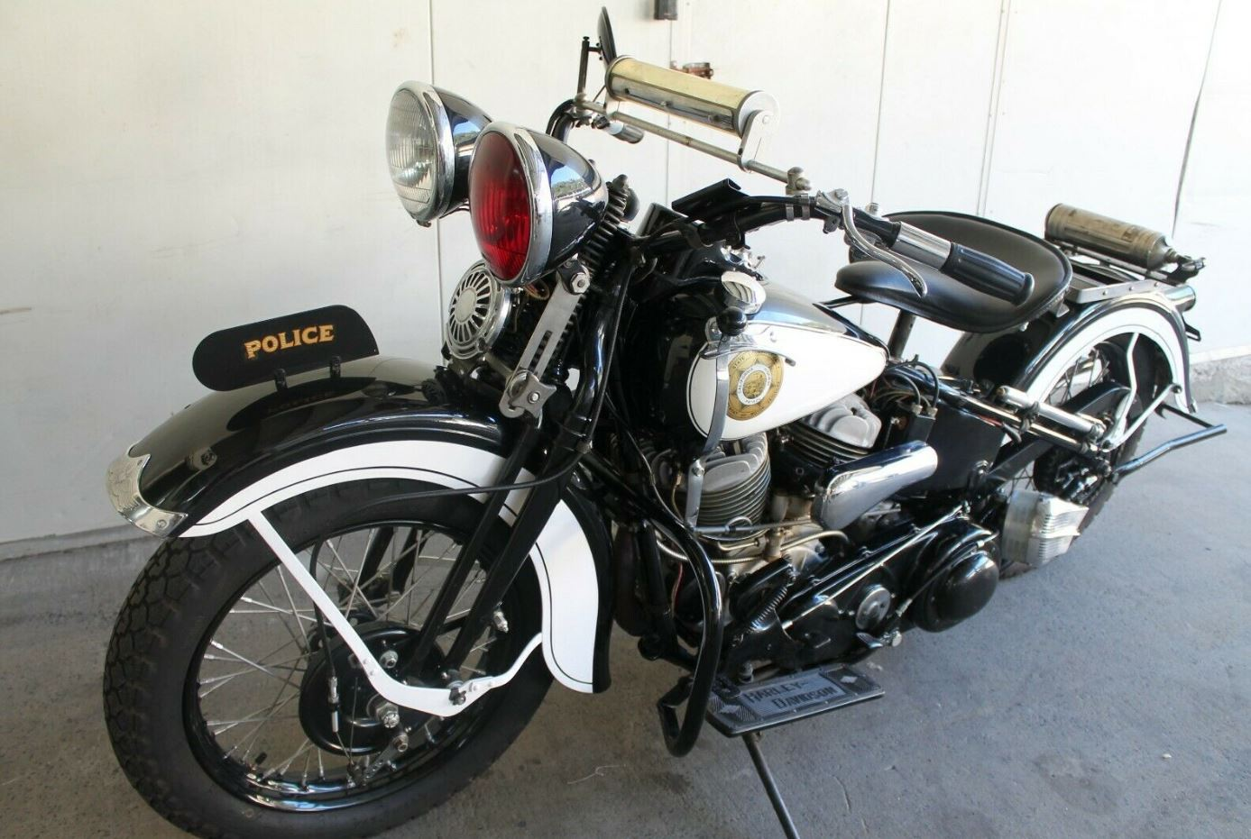 California Highway Patrol in Australia – 1938 Harley-Davidson ULH