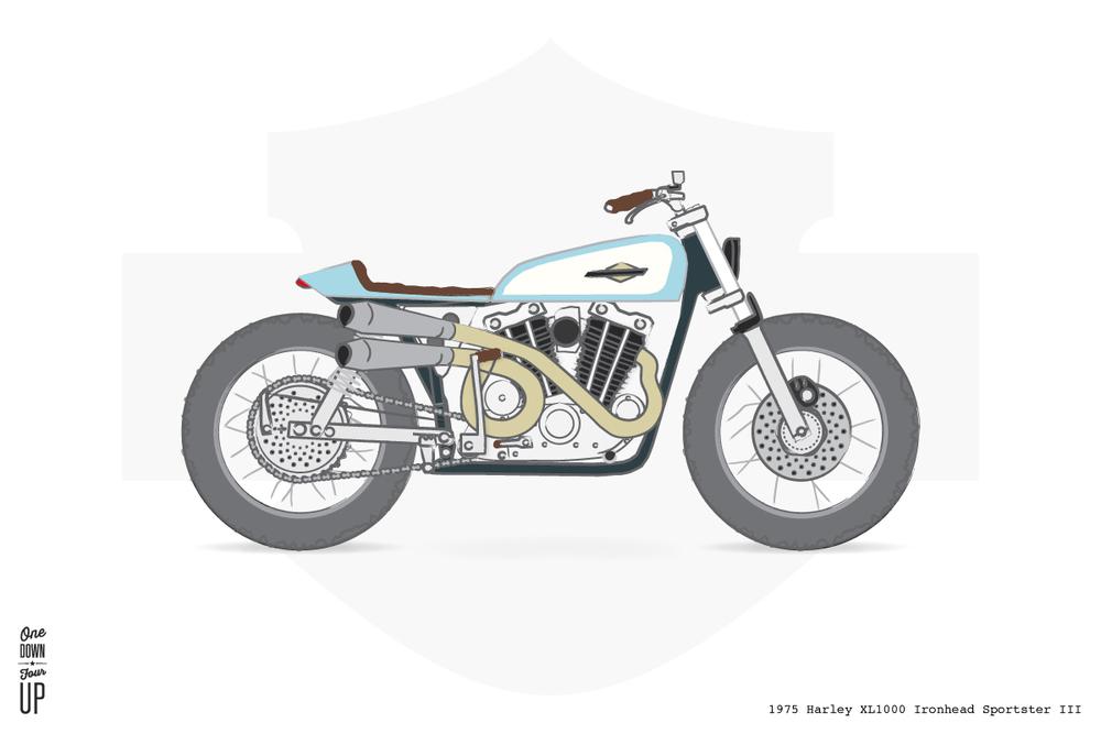 Street Tracker – 1975 Harley XL1000 Sportster
